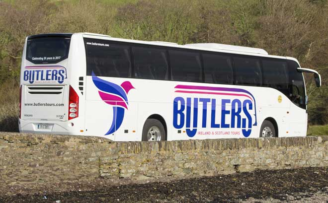 Butlers Bus Tours Ireland - flexible bus tours with a local driver/guide